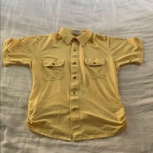 Christian Dior Monsieur s/s button down yellow L